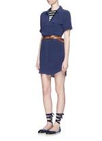 'Slim Signature' short sleeve shirt dress