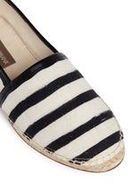 Stripe leather trim espadrille slip-ons