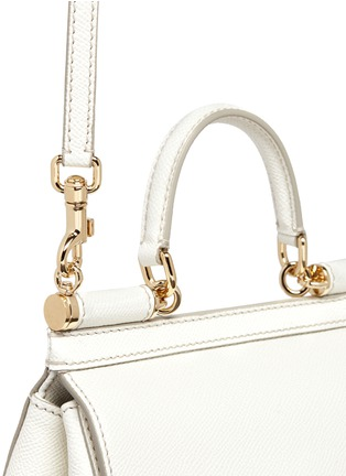 Detail View - Click To Enlarge - Dolce & Gabbana - 'Miss Sicily' mini Dauphine leather satchel