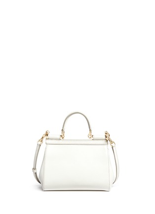Back View - Click To Enlarge - Dolce & Gabbana - 'Miss Sicily' mini Dauphine leather satchel