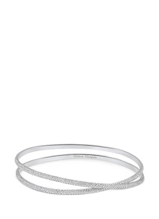Main View - Click To Enlarge - Maison Margiela Fine Jewellery - 'Anamorphose' diamond 18k white gold twisted bangle