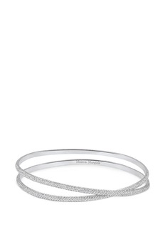 Maison Margiela Fine Jewellery 'Anamorphose' diamond 18k white gold twisted bangle
