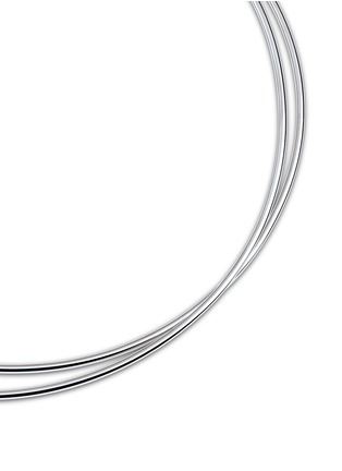 Figure View - Click To Enlarge - Maison Margiela Fine Jewellery - 'Anamorphose' 18k white gold twisted necklace