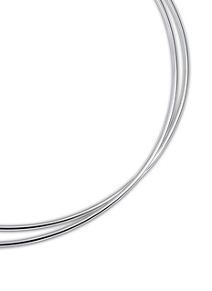 Maison Margiela Fine Jewellery 'Anamorphose' 18k white gold twisted necklace
