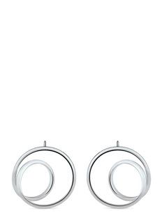 Maison Margiela Fine Jewellery'Anamorphose' 18k white gold small twisted earrings