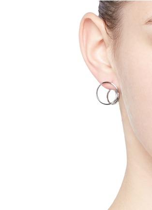 Maison Margiela Fine Jewellery-'Anamorphose' 18k white gold small twisted earrings