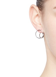 Maison Margiela Fine Jewellery 'Anamorphose' 18k white gold small twisted earrings