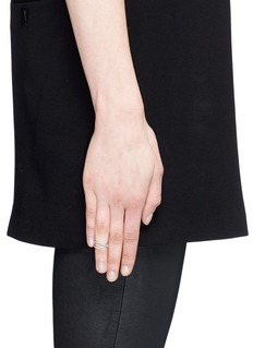 Maison Margiela Fine Jewellery 'Anamorphose' diamond 18k white gold twisted midi ring