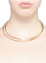 'Anamorphose' 18k yellow gold twisted necklace