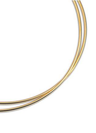Maison Margiela Fine Jewellery-'Anamorphose' 18k yellow gold twisted necklace