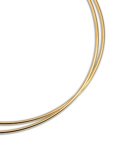 Maison Margiela Fine Jewellery 'Anamorphose' 18k yellow gold twisted necklace