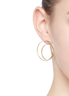 Maison Margiela Fine Jewellery 'Anamorphose' 18k yellow gold large twisted earrings