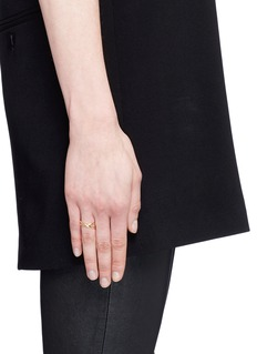 Maison Margiela Fine Jewellery 'Anamorphose' 18k yellow gold twisted ring