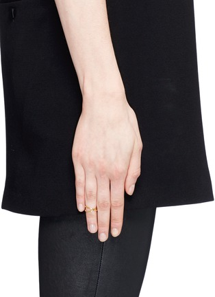 Figure View - Click To Enlarge - Maison Margiela Fine Jewellery - 'Anamorphose' 18k yellow gold twisted midi ring