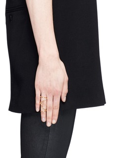 Maison Margiela Fine Jewellery 'Anamorphose' 18k yellow gold twisted long ring