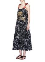 'Rome' sequin embellished polka dot silk dress
