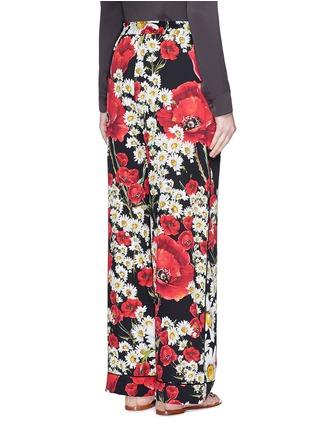 Back View - Click To Enlarge - Dolce & Gabbana - Mix daisy poppy print silk pyjama pants