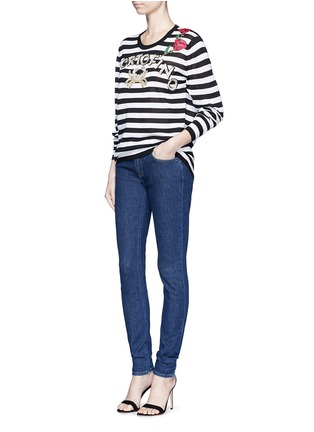 Figure View - Click To Enlarge - Dolce & Gabbana - 'Portofino' sequin embroidery stripe sweater