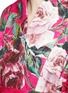细节 - 点击放大 - DOLCE & GABBANA - 玫瑰花锦缎和服式外套