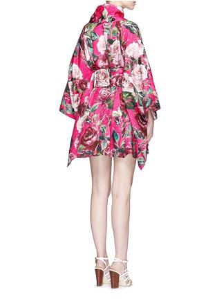背面 - 点击放大 - DOLCE & GABBANA - 玫瑰花锦缎和服式外套