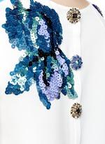 'Venezia' postcard print embroidery silk dress