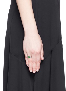 Samuel Kung Jade diamond 18k rose gold ring