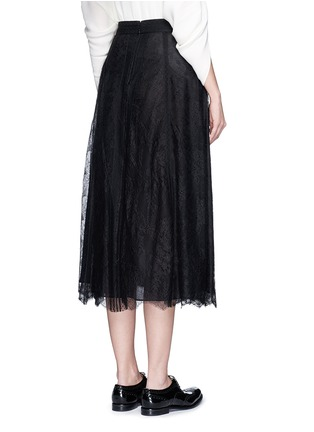 Back View - Click To Enlarge - Valentino - Chantilly lace midi skirt