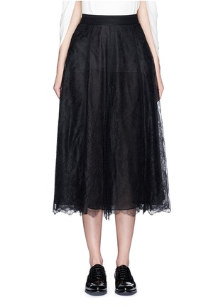 Main View - Click To Enlarge - Valentino - Chantilly lace midi skirt