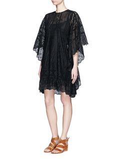 VALENTINOSan Gallo lace cape dress