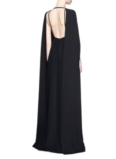VALENTINOOpen back silk cady crepe gown