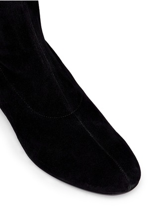 Detail View - Click To Enlarge - Robert Clergerie - 'Fetej' stretch suede thigh high boots