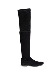 Robert Clergerie 'Fetej' stretch suede thigh high boots