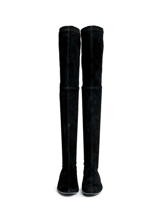 Figure View - Click To Enlarge - Robert Clergerie - 'Fetej' stretch suede thigh high boots