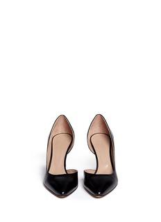 CHLOÉMetal heel plate leather d'Orsay pumps