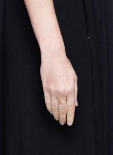 Pamela Love 'Orion' diamond 18k gold double star ring
