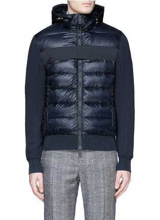 首图 - 点击放大 - Moncler Grenoble - Quilted down front bonded jersey jacket