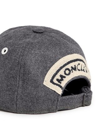 Detail View - Click To Enlarge - Moncler Capsule - Logo appliqué wool flannel cap
