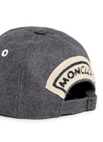 Logo appliqué wool flannel cap