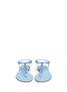 RENÉ CAOVILLAPearl T-strap flat sandals