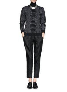 LANVINSnakeskin jacquard sweater