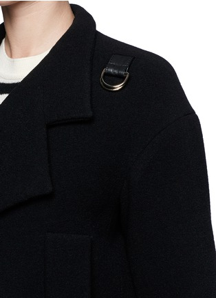 Detail View - Click To Enlarge - Chloé - Faux leather strap wool-blend jacket