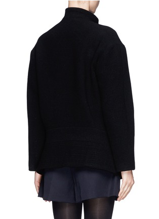 Back View - Click To Enlarge - Chloé - Faux leather strap wool-blend jacket