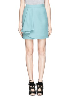 VALENTINO Crepe Couture drape pleat wrap skirt