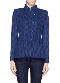ARMANI COLLEZIONIHerringbone knit jacket