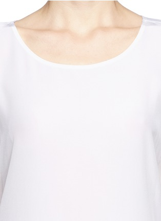 Detail View - Click To Enlarge - Vince - Silk front jersey T-shirt