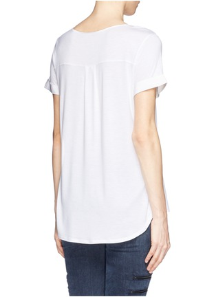Back View - Click To Enlarge - Vince - Silk front jersey T-shirt