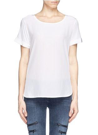 Main View - Click To Enlarge - Vince - Silk front jersey T-shirt
