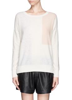 VINCEColourblock panel cashmere sweater