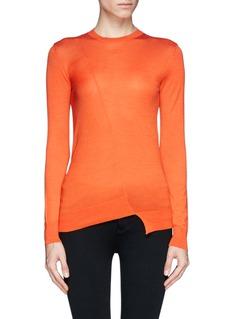 STELLA MCCARTNEYAsymmetric wool-silk sweater
