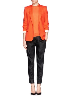 STELLA MCCARTNEY Asymmetric wool-silk sweater